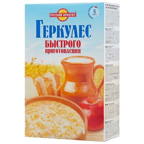 Русский Продукт Геркулес быстрого приготовления хлопья овсяные, 420 г русский продукт геркулес овсяная каша с клубникой 30 шт по 35 г