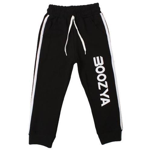 Брюки Boozya размер 110-116, черный брюки boozya размер 110 116 темно синий