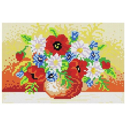 Мозаичная картина на подрамнике Полевой букет