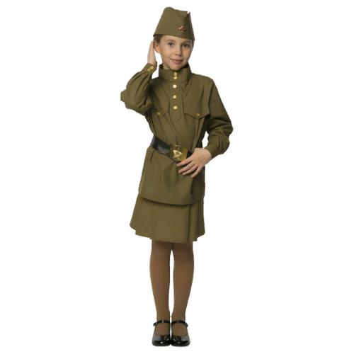Купить Костюм Вестифика Гимнастерка (108 003), зеленый, размер 128-134, Карнавальные костюмы