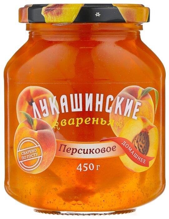 Варенье Лукашинские персиковое, банка 450 г