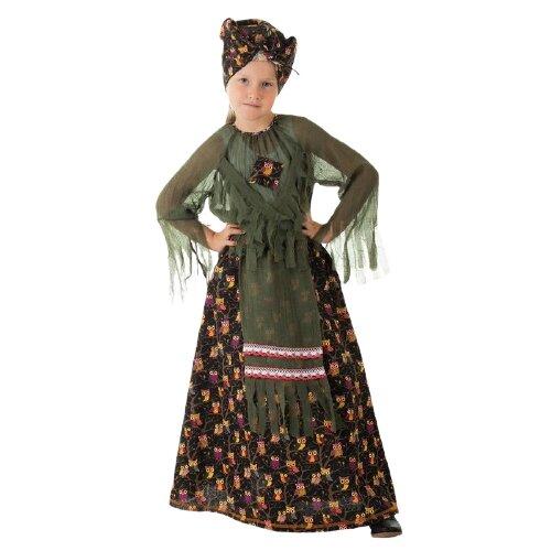 Купить Костюм Страна Карнавалия Баба-яга 1672909, зеленый, размер 98-104, Карнавальные костюмы