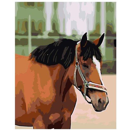 Картина по номерам Живопись по Номерам Гнедой конь, 40x50 см