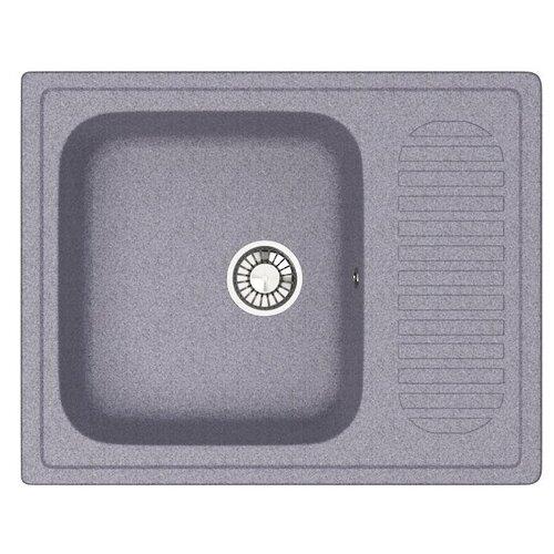 Кухонная мойка GLANZ J-015-35 цвет: тёмно-серый кухонная мойка melana 015 t r 10