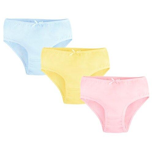 Трусики Bossa Nova 3 шт., размер 34, голубой/розовый/желтый футболка bossa nova размер 134 голубой