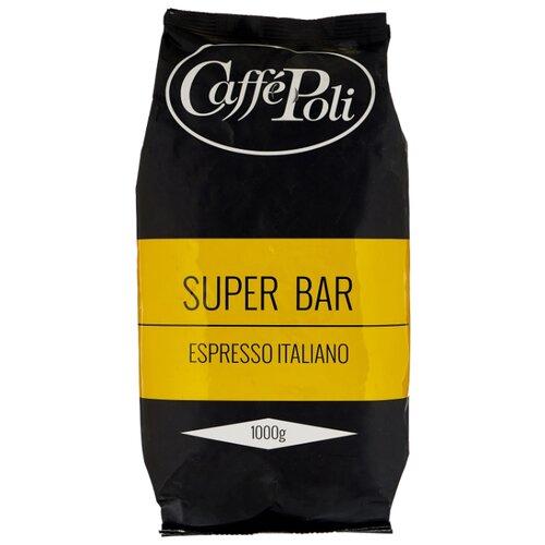 Кофе в зернах Caffe Poli Superbar, арабика/робуста, 1000 г кофе в зернах piazza del caffe