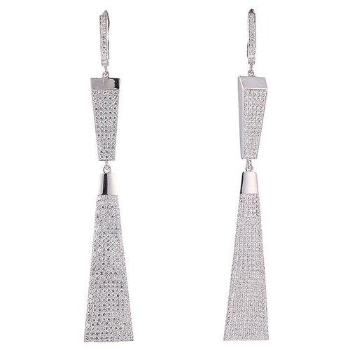 JV Серебряные серьги с кубическим цирконием MPE-93-SR-WG