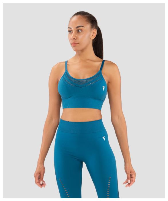 Купить Женский бра-топ Fifty Essential Knit Blue Fa-wb-0202-blu, синий размер S по низкой цене с доставкой из Яндекс.Маркета (бывший Беру)