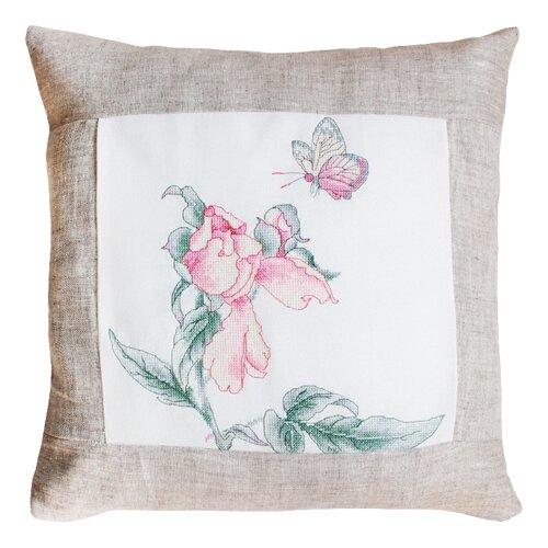 Набор для вышивания подушка Цветок и бабочка, Luca-S LUCA-S PB107