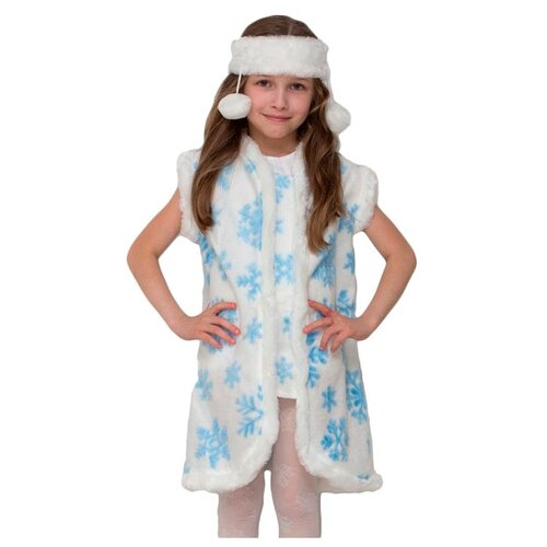 Купить Костюм Бока Снежинка нарядная, белый/голубой, размер 122-134, Карнавальные костюмы