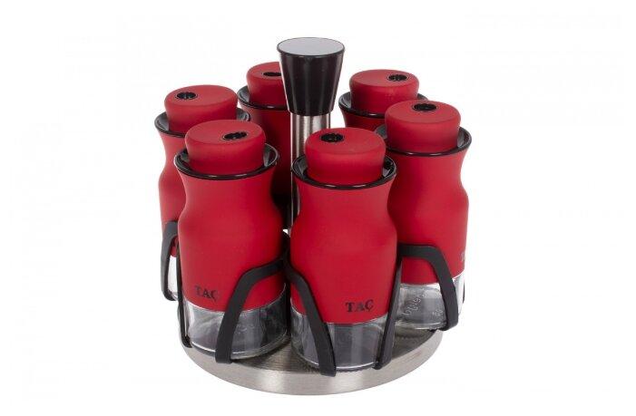 Купить TAC Набор баночек для специй 7 предметов красный по низкой цене с доставкой из Яндекс.Маркета (бывший Беру)