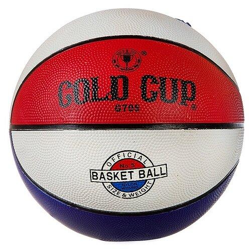 Мяч баскетбольный Гратвест №5, резина, цветной (Т81431)