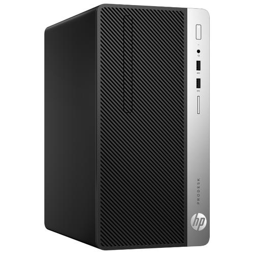 Настольный компьютер HP ProDesk 400 G6 MT (9UF67ES) Micro-Tower/Intel Core i3-9100/8 ГБ/256 ГБ SSD/Intel UHD Graphics 630/DOS черный/серебристый
