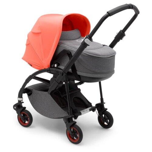 Универсальная коляска Bugaboo Bee5 (2 в 1) black/coral/grey melange, цвет шасси: черный