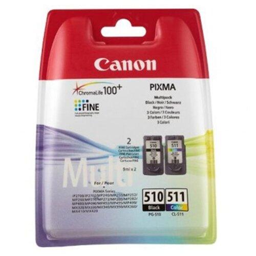 Картридж ориг. Canon PG-510 черный/CL-511 цветной MultiPack (2 картриджа в одной упаковке), цена за штуку, 194808