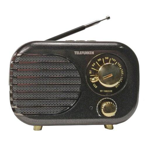 TELEFUNKEN Радиоприемники TF-1682B(черный с золотым)