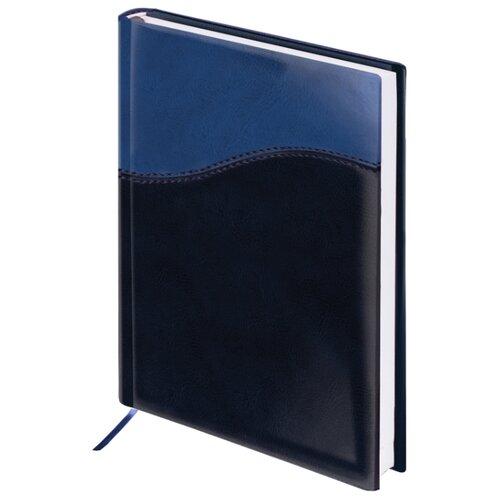 Купить Ежедневник BRAUBERG Bond недатированный, искусственная кожа, А5, 160 листов, синий, Ежедневники, записные книжки