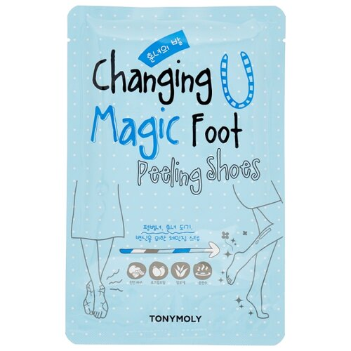 TONY MOLY Носочки для пилинга ног Changing u magic foot 34 мл маска для лица magic food choco mushroom cream pore pack tony moly