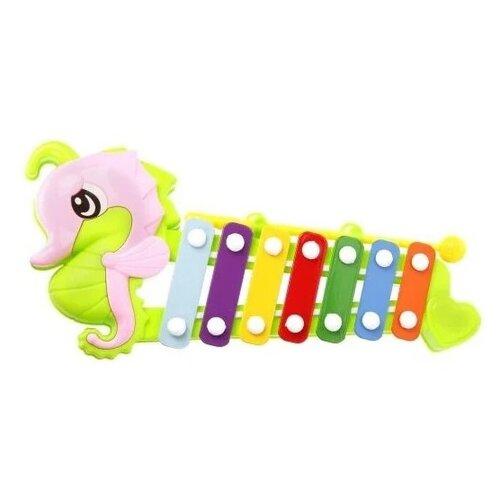 Купить Наша игрушка ксилофон Конёк 8830A разноцветный, Детские музыкальные инструменты