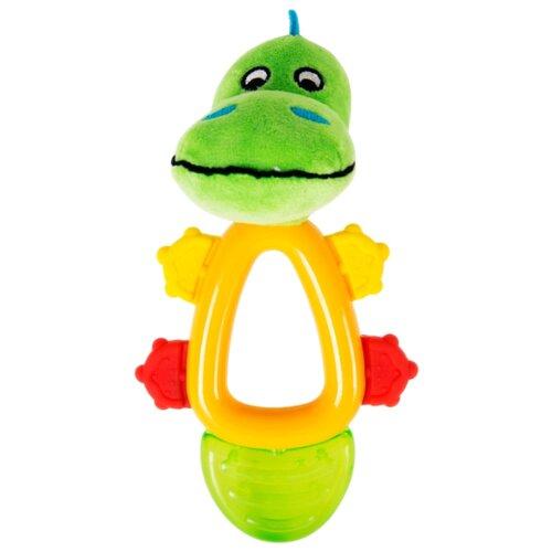 Прорезыватель-погремушка Happy Snail Кроко зеленый/желтый прорезыватель погремушка happy baby flower twist разноцветный