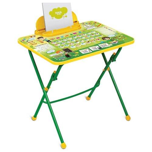 Купить Стол Nika Первоклашка (СТИ2/3) 60x45 см зеленый/желтый, Парты и столы