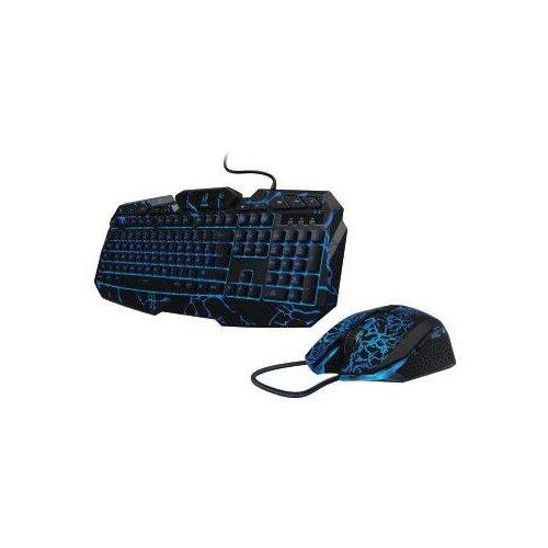 Клавиатура + мышь Hama uRage Illumination клав:черный мышь:черный USB Gamer LED