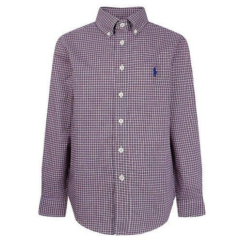 Рубашка Ralph Lauren размер 164, синий/красный