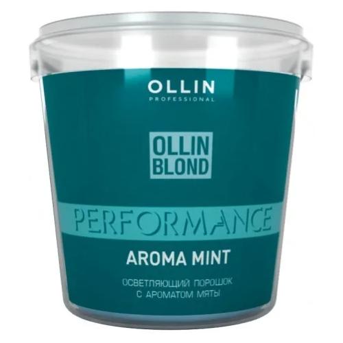 OLLIN Professional Blond Perfomance Aroma Mint Осветляющий порошок с ароматом мяты, 500 г недорого