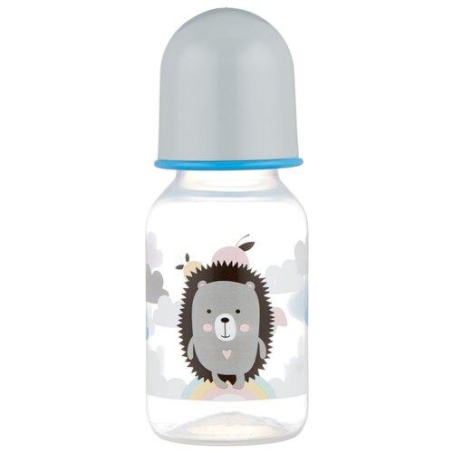 lubby бутылочка с соской малышарики 125 мл с рождения желтый Lubby Бутылочка из полипропилена с соской Малыши и малышки, 125 мл с рождения, ежик