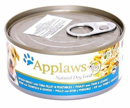 Корм для собак Applaws курица, тунец с овощами 156г