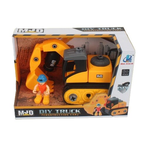 Купить Винтовой конструктор MJD DIY Truck 122-3B Спецтехника Экскаватор, Конструкторы