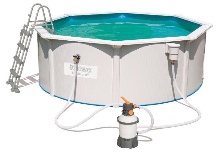 Bestway, Стальной бассейн Hydrium Pool Set 360х120см, 10990л, песоч.фил.-насос 2006л/ч, лестница, 56574 BW
