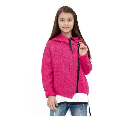 Купить Кардиган Gulliver размер 152, розовый, Свитеры и кардиганы