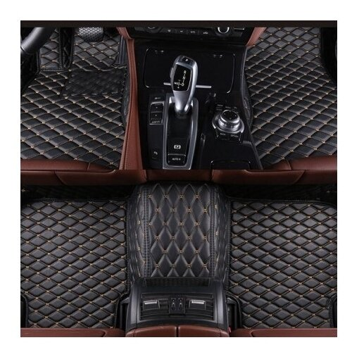 Комплект ковриков в салон автомобиля Экокожа для Nissan Tiida I (кузов С-11) с 2004-2014 / kz-044f-55