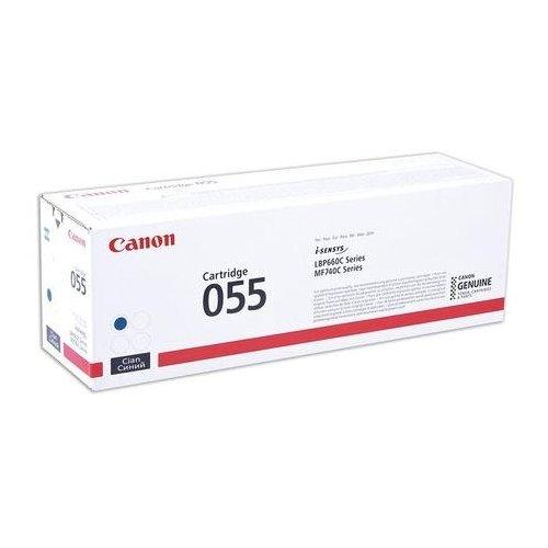 Фото - Картридж лазерный CANON (055C) для LBP663/664/MF742/744/746, голубой, оригинальный, ресурс 2100 страниц, 3015C002 картридж лазерный canon 055hm для lbp663 664 mf742 744 746 пурпурный оригинальный ресурс 5900 страниц 3018c002