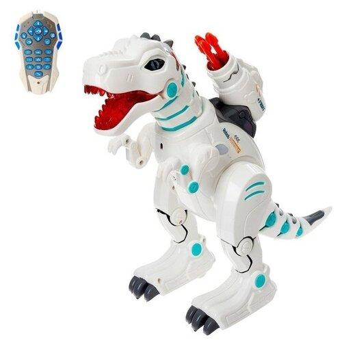 Фото - Робот Zhorya Пультовод Динозавр ZYB-B2981 белый радиоуправляемый робот zhorya интерактивный белый кот 2059