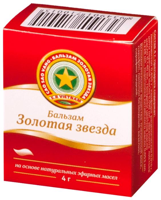 Золотая звезда бальзам мазь д/нар. прим. 4 г
