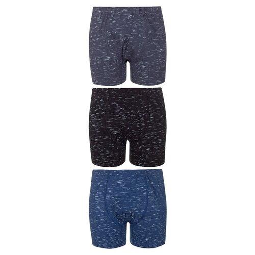 Купить Трусы BAYKAR 3 шт., размер 158/164, серый/синий/черный, Белье и пляжная мода