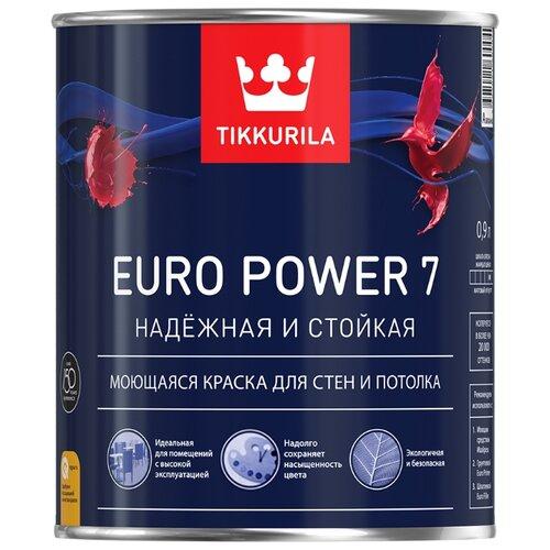 Краска Tikkurila Euro Power 7 (База А) для детской моющаяся матовая белый 0.9 л