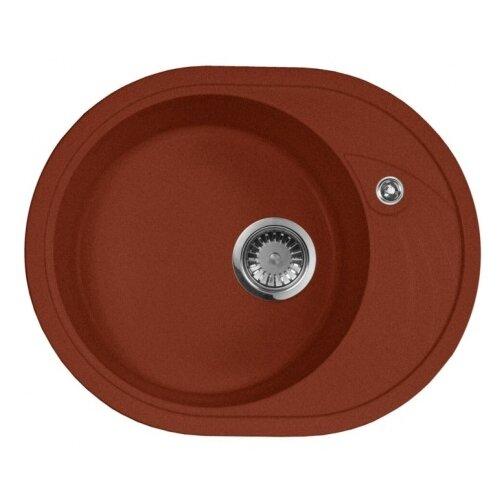 цена на Врезная кухонная мойка 57 см А-Гранит M-18L M-18L(334) красный марс