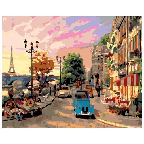 Купить Картина по номерам Живопись по Номерам Городская улица , 40x50 см, Живопись по номерам, Картины по номерам и контурам