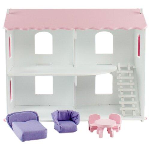 Купить PAREMO кукольный домик Даниэла (с мебелью) PD218-03, белый/розовый, Кукольные домики