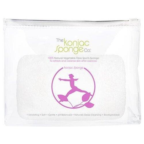 Губка The Konjac Sponge Company спонж Sports Lilac Lady белый