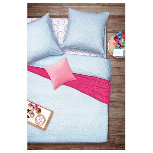 Постельное белье семейное Sova & Javoronok Фламинго 50х70 см, бязь голубой кпб семейное голубой попугай сирень постельное белье с рисунком