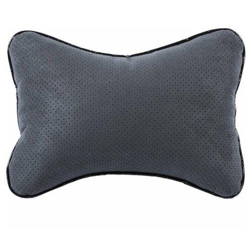 Подушка в автомобиль для водителя алькантара (серый)
