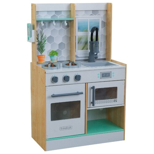 Фото - Кухня KidKraft Let's Cook Wooden Play Kitchen 53395/53433 натуральный wooden children simulation pretend play small doctor toy suit kids gift