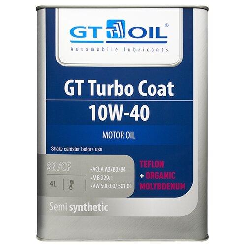 Полусинтетическое моторное масло GT OIL GT Turbo Coat 10W-40 4 л недорого