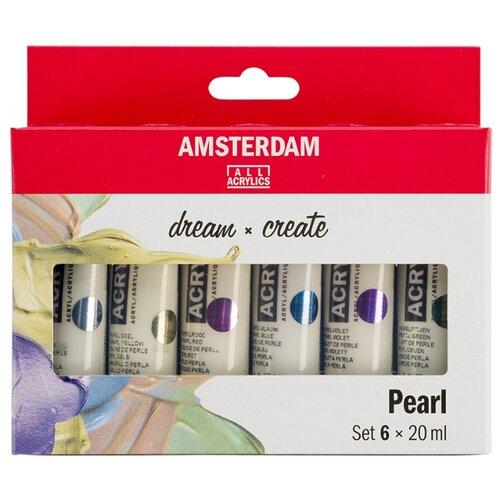 Купить Royal Talens Набор акриловых красок Amsterdam Standart 6цв*20мл перламутровые цвета, Наборы для рисования