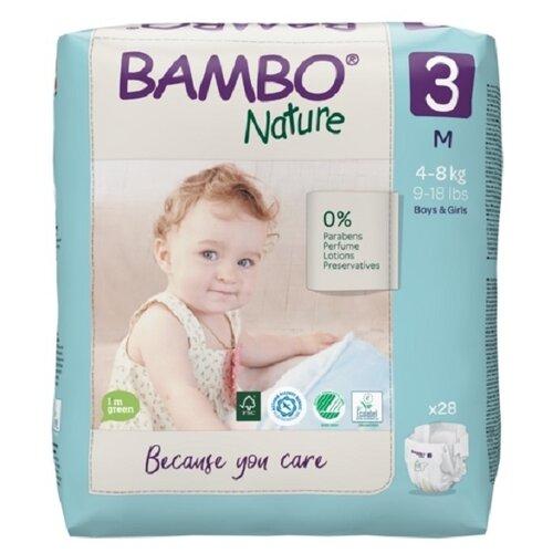 Купить BAMBO подгузники Nature 3 (4-8 кг) 28 шт., Подгузники