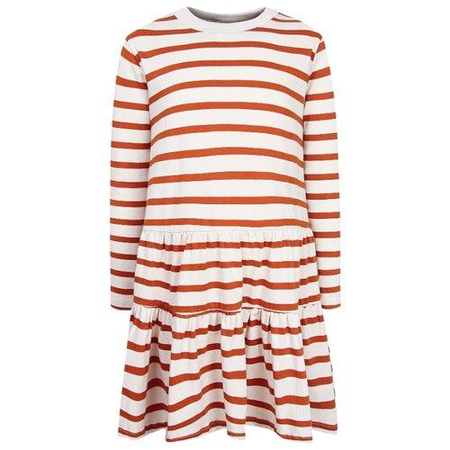 Платье Molo размер 92-98, кремовый/оранжевый